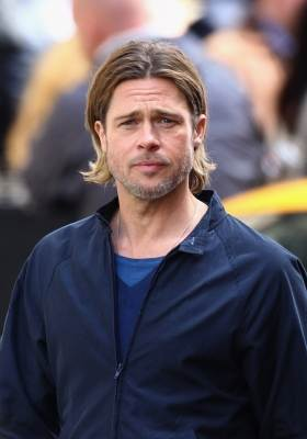 "Brad Pitt films a scene from ""World War Z"" in Glasgow City centre in Glasgow, Scotland on August 18, 2011  -- Getty Images"