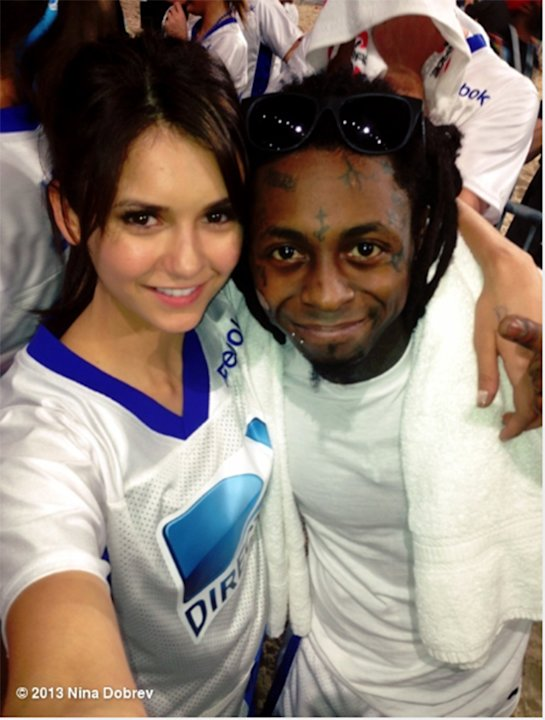 Nina Dobrev and Lil Wayne