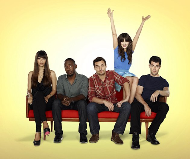 "The cast of ""New Girl."""
