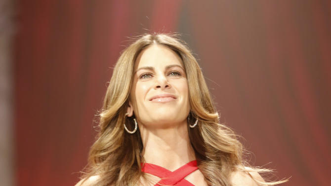 Jillian Michaels walks the runway at the Red Dress Collection 2013 Fashion Show, on Wednesday, Feb. 6, 2013 in New York. (Photo by John Minchillo/Invision/AP)