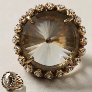 Anthropologie Scrying Ring
