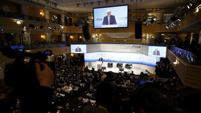 German Foreign Minister Steinmeier delivers a speech at the Munich Security Conference in Munich
