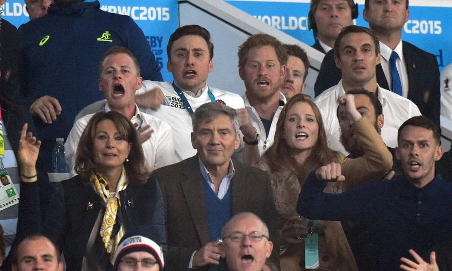 Prince Harry joined by Kate Middleton's family at Rugby World Cup