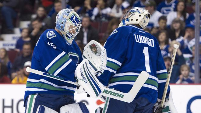 Goalie Roberto Luongo #1 Of The Vancouver Canucks Is Getty Images