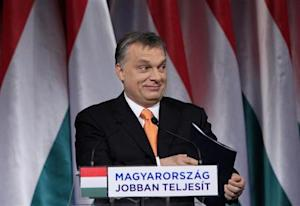 Hungarian Prime Minister Orban smiles before his annual state-of-the-nation speech in Budapest,