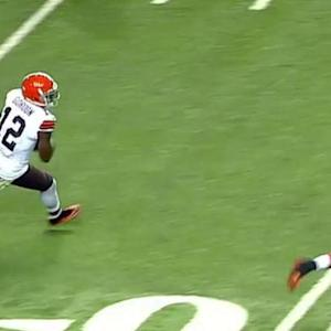 Cleveland Browns wide receiver Josh Gordon's first catch of the season