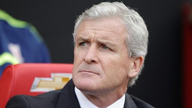 Mark Hughes was a relieved man after seeing Stoke progress on penalties