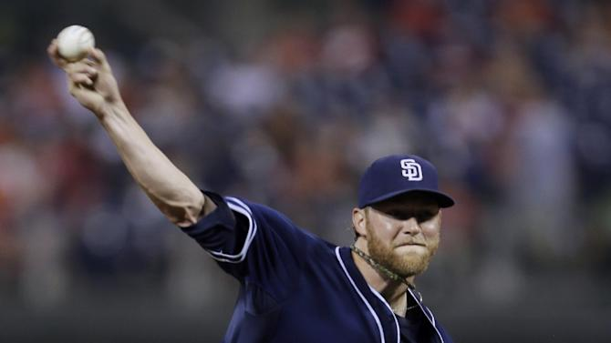 Padres back Cashner with 13 hits, top Phillies 8-2