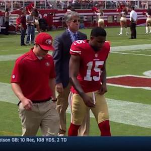 San Francisco 49ers Michael Crabtree out with a foot injury