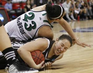 ND women rout Bonnies 79-35 in regional semis