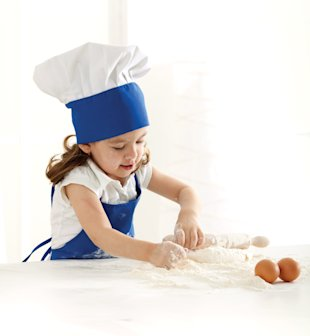 Child baking, Girl baking, Eggs, Feb 13, p92
