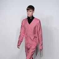 A model presents a creation during the J.W Anderson Men's London 2012 Autumn/Winter collection