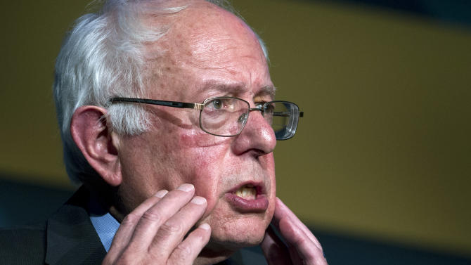 """In this Oct. 7, 2015, photo, Democratic presidential candidate Sen. Bernie Sanders, I-Vt. speaks during the Congressional Hispanic Caucus Institute Public Policy Conference at Washington Convention Center  in Washington. Sanders and his campaign team have a relatively simple plan for his debut appearance in a nationally televised debate: """"Let Bernie be Bernie."""" It's a strategy aides say fueled Sanders' rise in the Democratic primary campaign, where the often-disheveled, 74-year-old Vermont senator has won the hearts of his party's base with an unapologetically liberal message. (AP Photo/Jose Luis Magana)"""