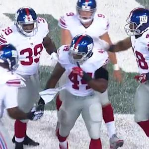 New York Giants running back Andre Williams 1-yard TD