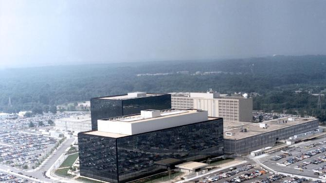 """This undated US government photo shows an aerial view of the National Security Agency (NSA) in Fort Meade, Md. The Obama administration on Thursday defended the National Security Agency's need to collect telephone records of U.S. citizens, calling such information """"a critical tool in protecting the nation from terrorist threats."""" (AP Photo/US Government)"""
