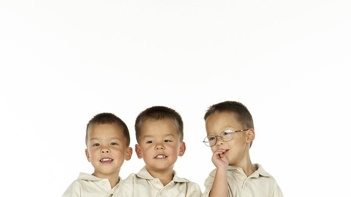 "Joel, Collin and Aaden. The three boys from the Gosselin's sextuplets as seen on ""Jon & Kate Plus 8."""