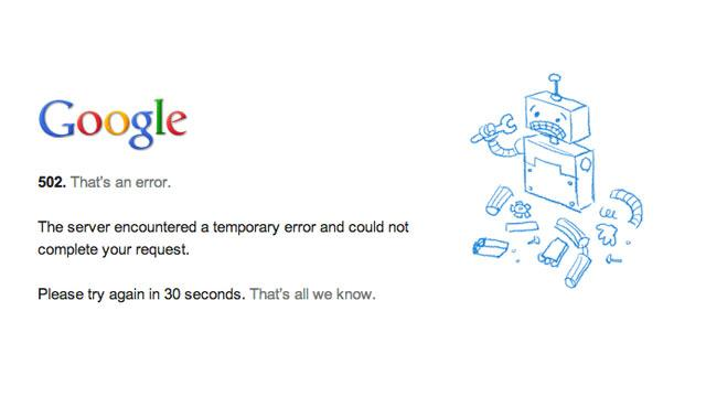 Google Fixing Widespread Outage