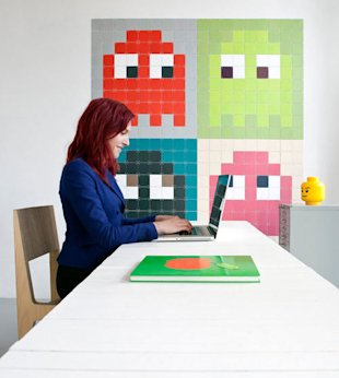 Pac Man Tile Art
