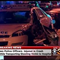 Two Police Officers Injured In Crash