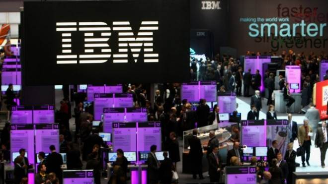 IBM's stock rose by 3.8 percent early on Jan. 23.