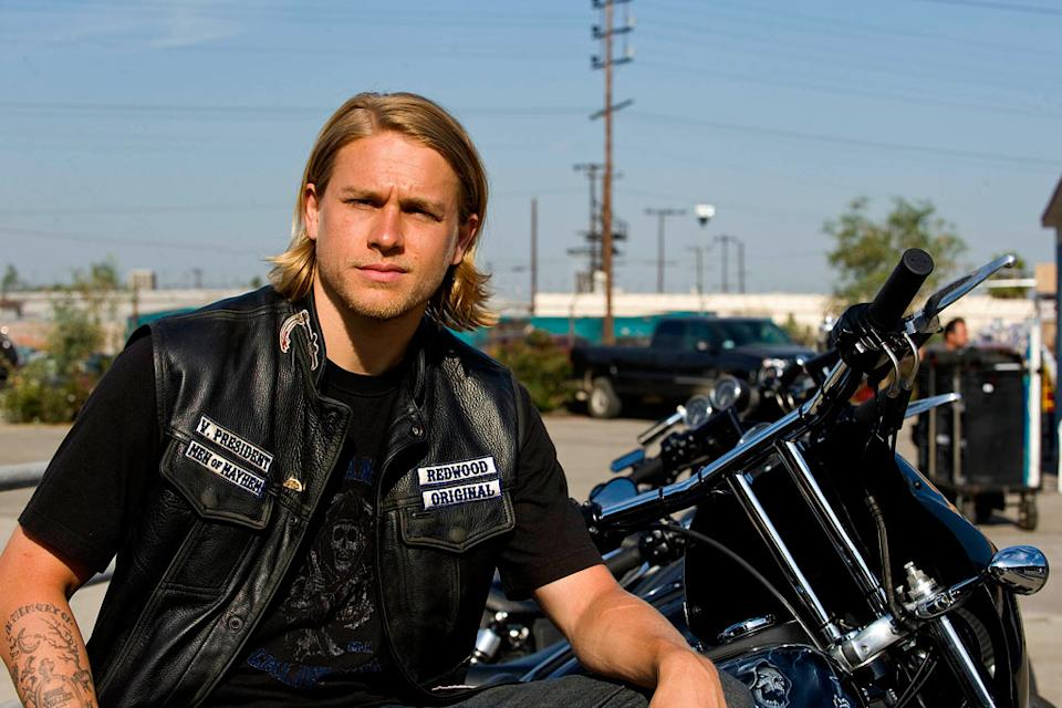 "Charlie Hunnam as Jackson ""Jax"" Teller in Sons of Anarchy."