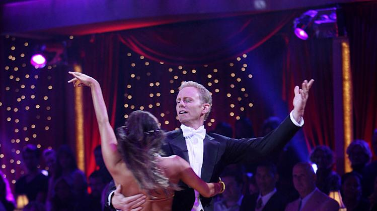 Professional dancer, Cheryl Burke and Ian Ziering perform their fourth dance in the 4th season of Dancing with the Stars.