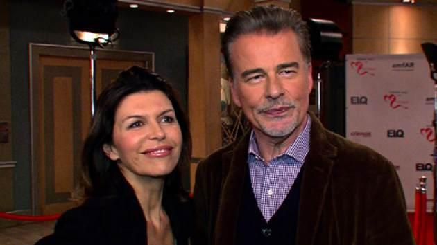 Finola Hughes and Ian Buchanan on the set of 'General Hospital,' 2013 -- Access Hollywood