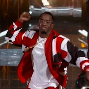 Diddy Falls Into Hole in BET Awards Stage