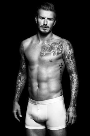 David Beckham in a shot for H&M's David Beckham Bodywear collection, August 2012 -- H&M