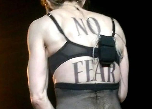 Madonna, No Fear, breast flashing