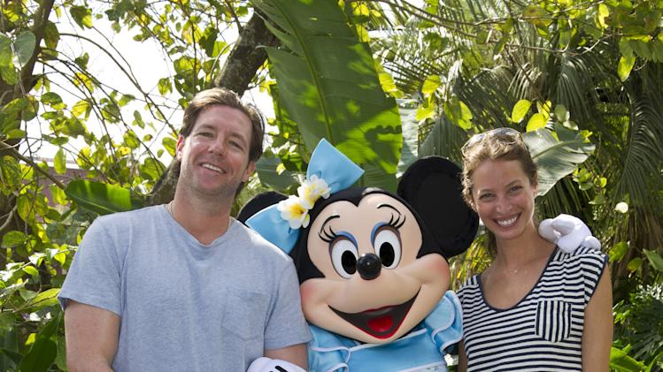Ed Burns And Christy Turlington Visit Disney World