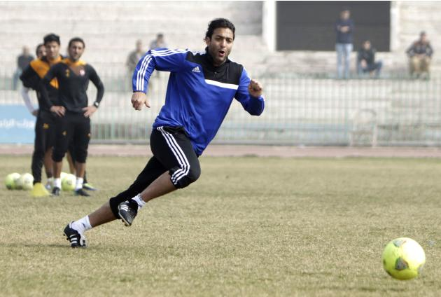 "Ahmed Hossam ""Mido"", new head coach of Zamalek, attends his first soccer training session in Cairo"