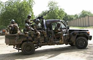 Niger soldiers provide security for an anti-Boko Haram summit in Diffa city, Niger