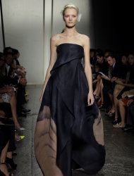 The Donna Karan New York Spring 2013 collection is modeled during Fashion Week in New York, Monday, Sept. 10, 2012. (AP Photo/Richard Drew)