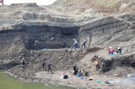 The Shuitangba site in China, where an extremely rare juvenile skull of an extinct ape has now been revealed.