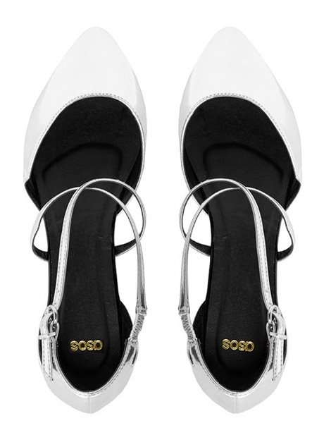 "ASOS ""Lovely"" metallic ballet flats, $48.29 at ASOS"
