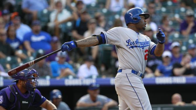 Kershaw hit hard, Dodgers top Rockies; Puig hurt