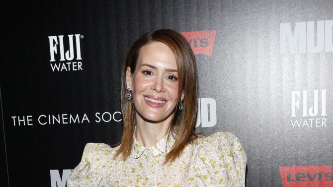 "Actress Sarah Paulson arrives for The Cinema Society's screening of ""Mud"" presented by FIJI Water, Sunday, April 21, 2013, in New York. (Photo by Jason DeCrow/Invision for FIJI Water/AP Images)"