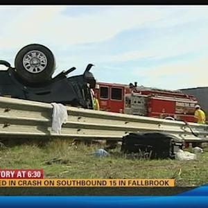 3 killed in rollover crash in Fallbrook