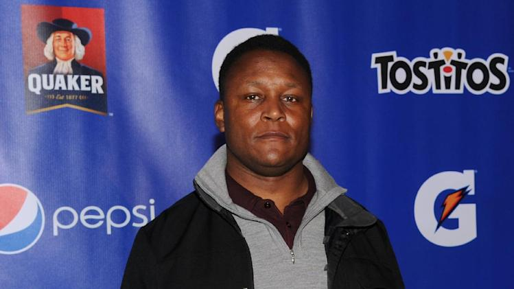 Former NFL player Barry Sanders attends at the PepsiCo Pre-Super Bowl Party, at Masquerade Night Club, on Friday, Feb. 1, 2013 in New Orleans. (Photo by Evan Agostini/Invision for PepsiCo/AP Images)