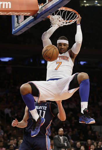 Smith has 37, Knicks beat Bobcats for 7th straight