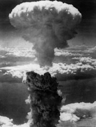 "The second US atomic bomb exploding on Nagasaki on August 9, 1945. A grandson of former US president Harry Truman, who authorised the atomic bombing of Japan during World War II, met survivors in Tokyo Friday, calling it ""a good first step towards healing old wounds"""