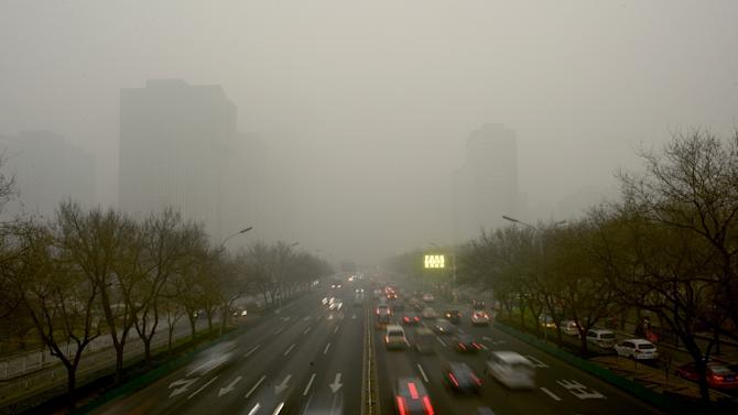 China has allowed children in the capital to skip school and airlines cancelled more than 30 flights from Beijing and Shanghai as a choking smog reached over 25 times safe levels on December 1, 2015