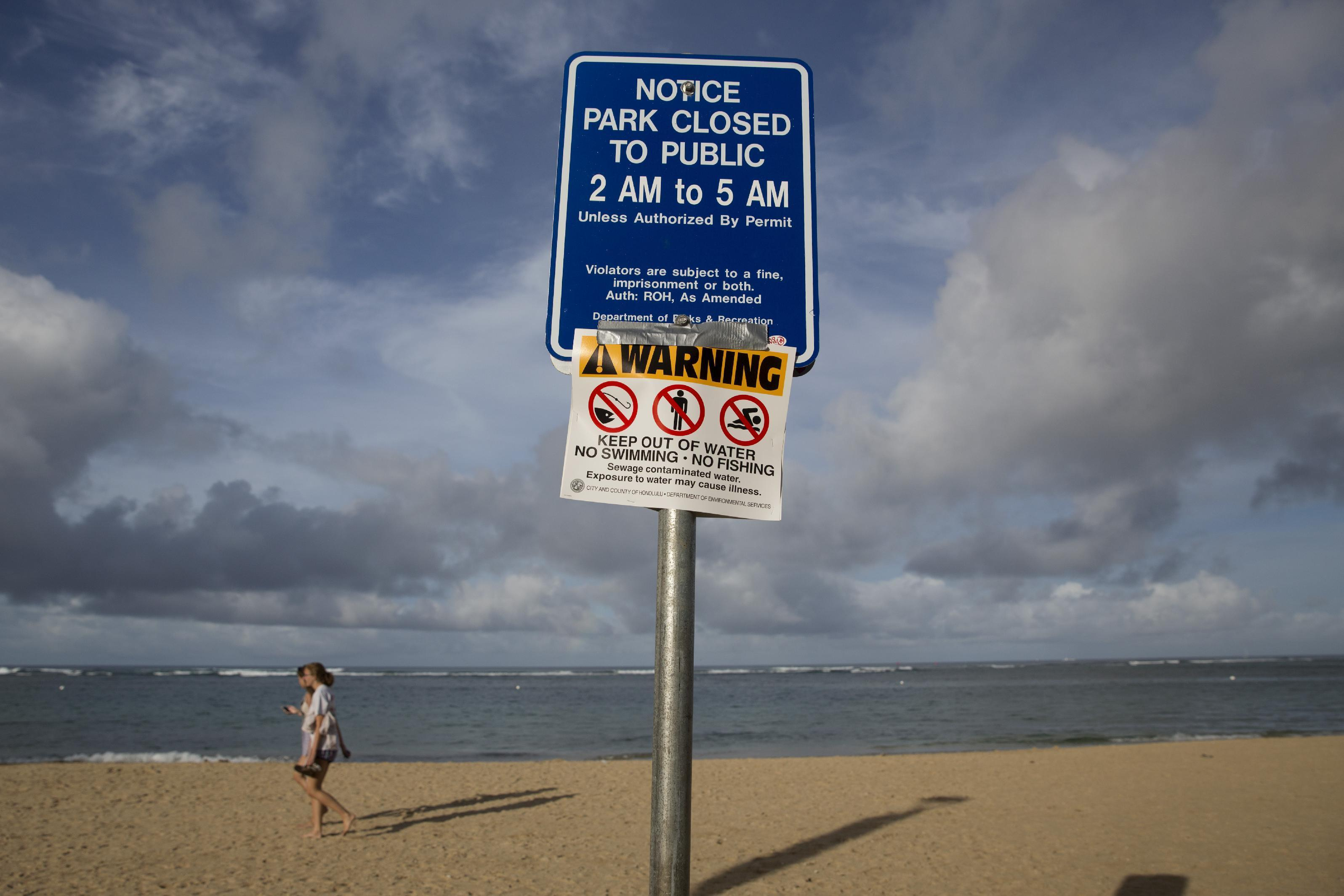 Million gallons of wastewater closes another beach in Hawaii