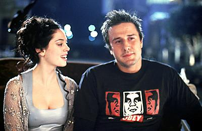 Rose McGowan and David Arquette in Warner Brothers' Ready To Rumble