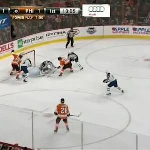 Michael Hutchinson Save on Brayden Schenn (09:56/1st)