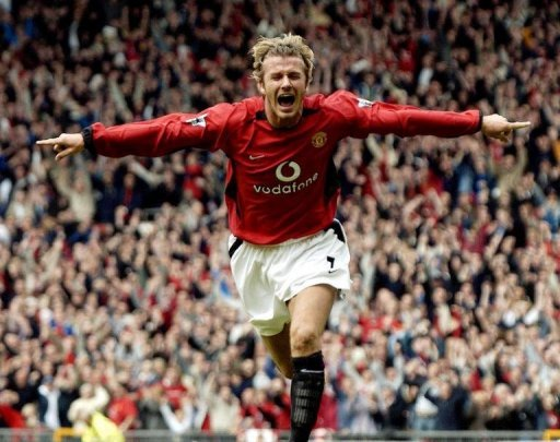 David Beckham shot to global fame at Manchester United