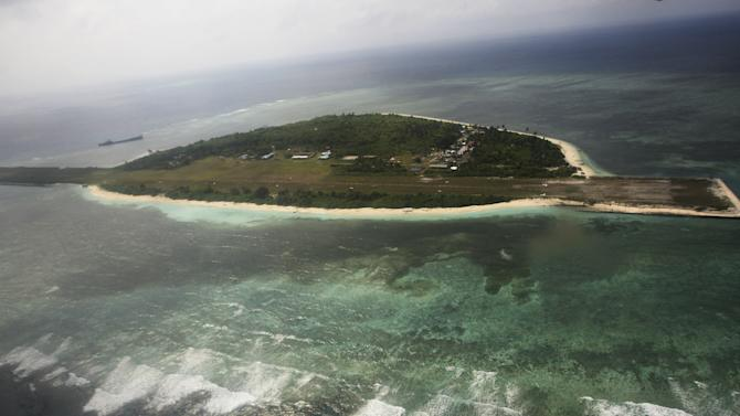 File photo of the Pagasa Island, which belongs to the disputed Spratly group of islands, in the South China Sea located off the coast of western Philippines