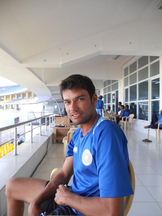 Sheldon Jackson, Saurashtra Cricket Association, January 17 2013. Photo by Skandan Sampath / Yahoo! Cricket