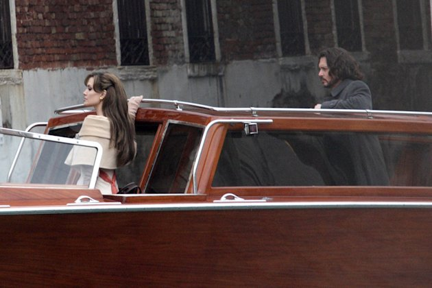 Spotted on Set March 2010 Angelina Jolie Johnny Depp